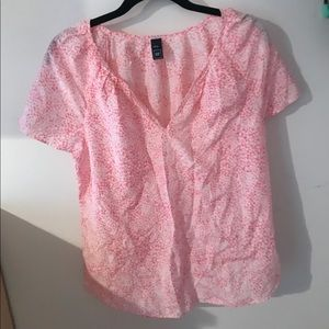 Pink stars light weight gap shirt